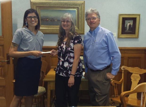 Jennifer Escobar Presents Grant to AKSPL